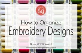 organizing embroidery designs