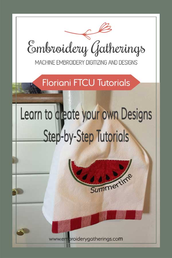 Learn to digitize with Floriani FTCU and create these beautiful projects. Step-by-step written tutorials, videos and pdf available.