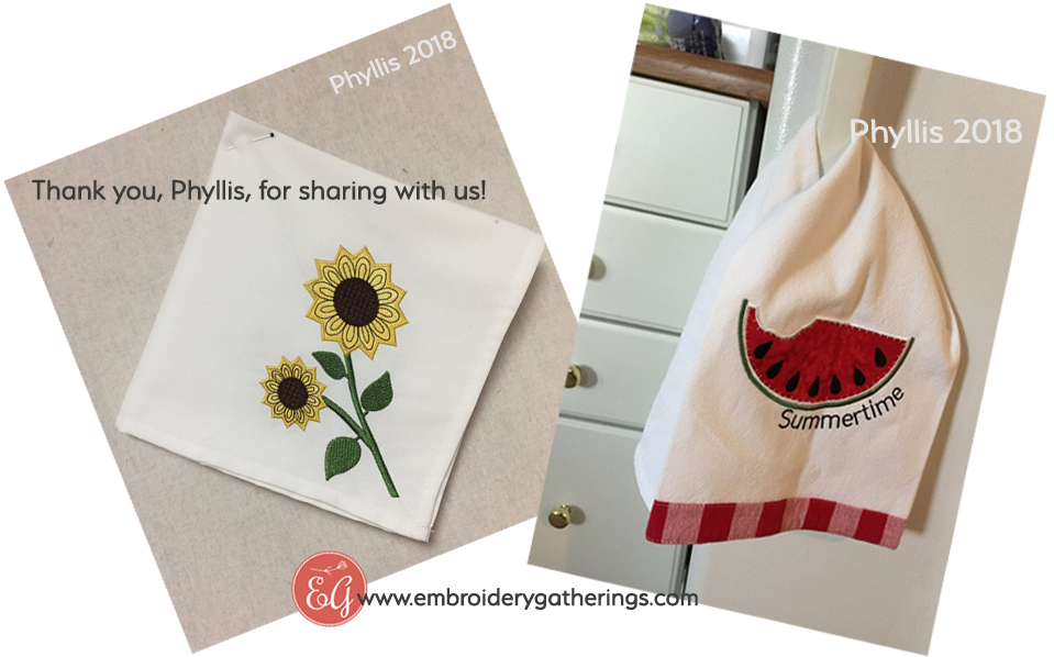 towels-embroiderygatherings tutorials