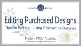 edit designs using convert to outlines in FTCU