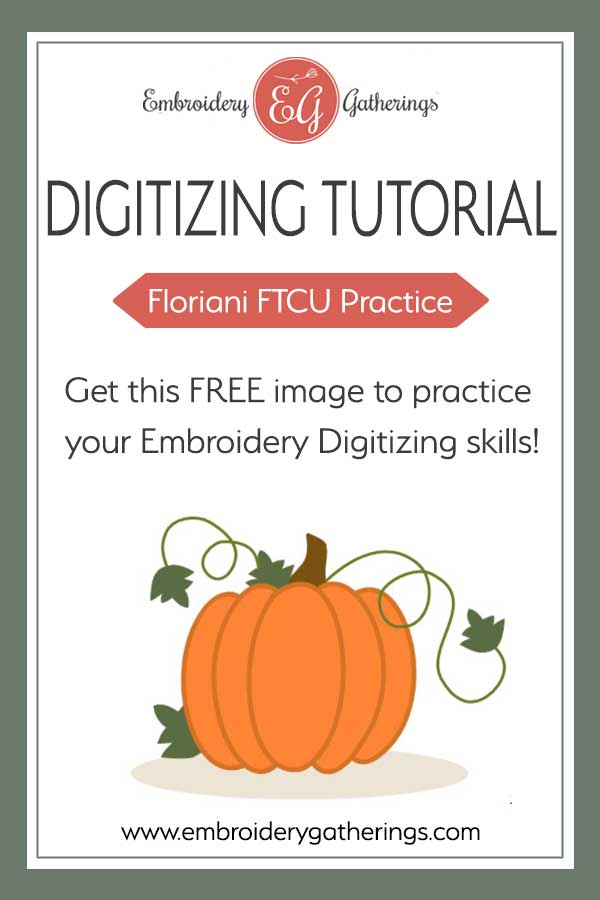 Practice your embroidery digitizing skills with this FTCU Practice Challenge using fill stitches. Free PDF practice guide and image available to download. #digitizingpractice #machineemboiderydigitizing #embroiderygatherings