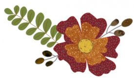 Embroidery Gatherings Digitizing practice - Fall flower