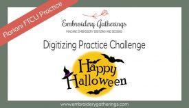 Floriani FTCU digitizing practice-happy halloween