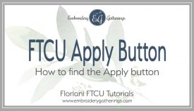 how to find the missing Apply button in Floriani FTCU