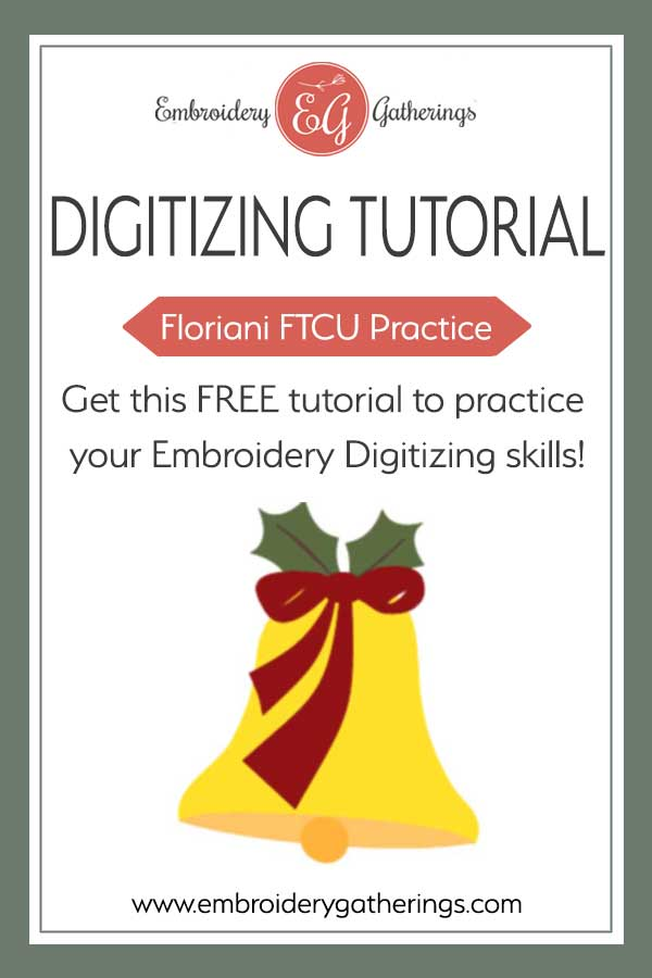 Enjoy your holiday digitizing practice with this Christmas bell. Download the image and free pdf guide to practice your FTCU digitizing skills.