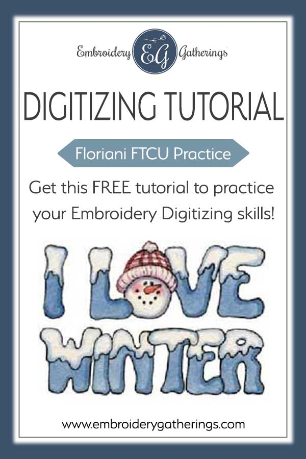 Practice your embroidery digitizing skills with this FTCU Practice Challenge. Download a FREE PDF practice guide and this jpeg image to use for your practice. Checkout our Embroidery Gatherings Membership Club for more FTCU tutorials. #florianiFTCU #embroiderydigitizing #florianitutorials #embroiderygatherings