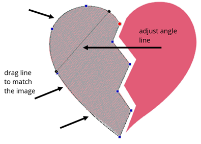 edit the angle line with Floriani FTCU