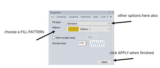 edit the fill pattern in Floriani FTCU