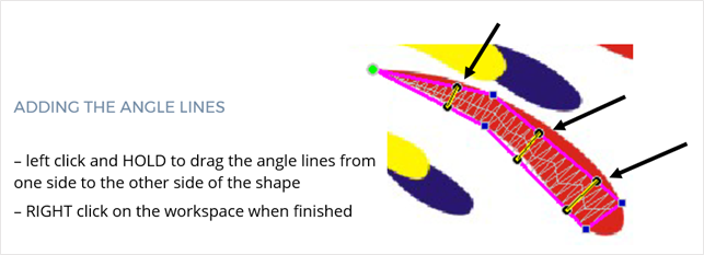 angle lines in floriani FTCU