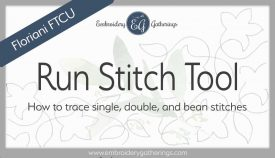 Floriani FTCU digitize Run stitch tutorial