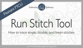 Floriani FTCU digitize Run stitch tutorial