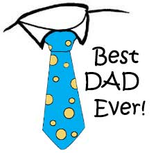 best dad image with tie and greeting for fathers day