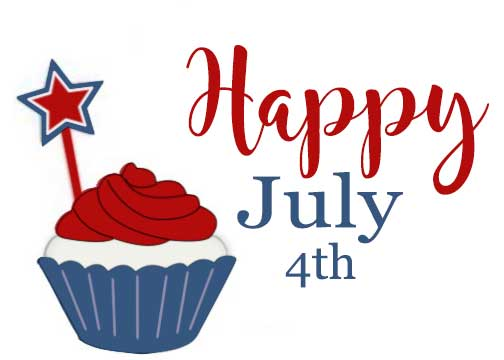 fourth of july cupcake - FTCU digitizing practice
