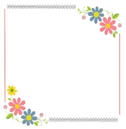 small flower frame - digitizing practice with Floriani FTCU