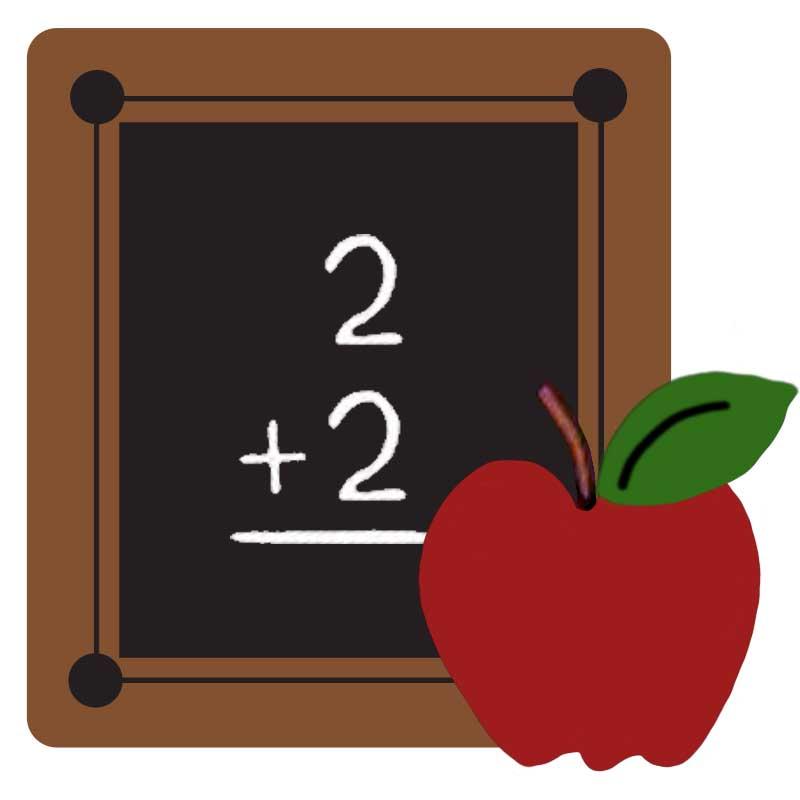 FTCU digitizing practice-chalkboard-apple