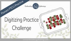 Floriani FTCU Digitizing practice- Merry Christmas blocks