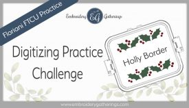 Floriani FTCU Digitizing practice-holly border