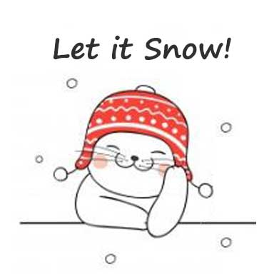 let it snow cat image