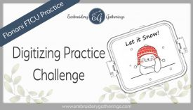Floriani FTCU Digitizing practice-Let it Snow