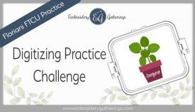 Floriani FTCU Digitizing practice-oregano herb pot