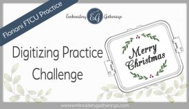 Floriani FTCU Digitizing practice-Merry Christmas