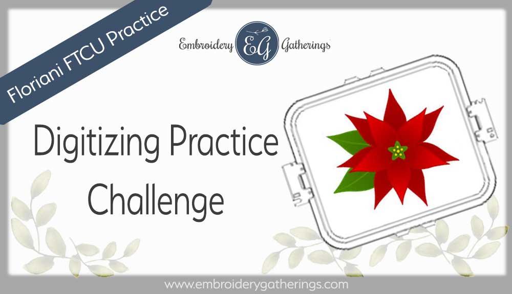 Floriani FTCU Digitizing practice-Poinsettia